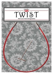 Леска TWIST RED CABLES красная для спиц